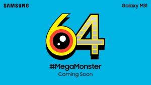 Samsung Galaxy M31 con cámara de 64 MP se lanzará pronto en India
