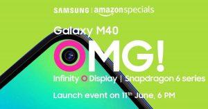 Samsung Galaxy M40 tendrá una cámara principal de 32 MP;  lanzamiento el 11 de junio como exclusivo de Amazon