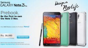 Samsung Galaxy Note 3 Neo disponible para pre-reserva en Rs.  38990