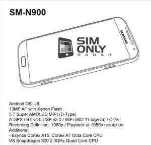 Samsung Galaxy Note 3 contará con flash Xenon y vendrá en dos variantes: Exynos Octa 5 y Snapdragon 800