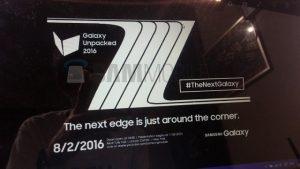 Samsung Galaxy Note 7 se anunciará el 2 de agosto