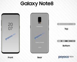 Samsung Galaxy Note 8 se lanzará a mediados de agosto de este año