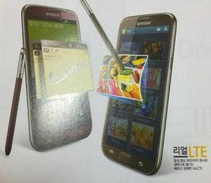 Samsung Galaxy Note II ahora visto en Ruby Wine y Amber Brown