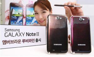 Samsung Galaxy Note II en Amber Brown & Ruby Wine lanzado en Corea