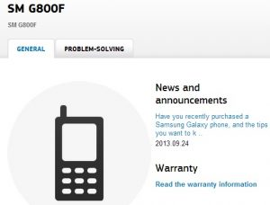 Samsung Galaxy S5 Mini supuestamente confirmado por Samsung Finlandia