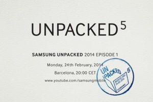 El evento Samsung Unpacked 5 programado para el 24 de febrero en el MWC;  puede lanzar el Galaxy S5