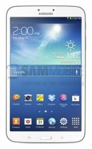 Samsung Galaxy Tab 3 8.0 filtrado
