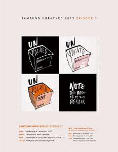 Samsung Unpacked 2013: Episodio 2 programado para el 4 de septiembre;  Galaxy Note 3 se lanzará