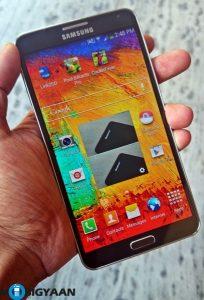 Samsung comienza a implementar la actualización de Android Lollipop para el Galaxy Note 3 en India