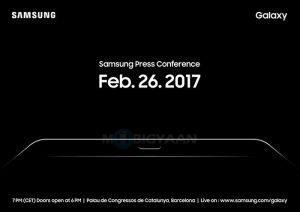 Samsung envía invitaciones de prensa para su evento MWC programado para el 26 de febrero