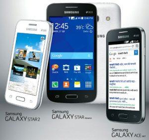 Samsung lanza tres teléfonos inteligentes Android KitKat de nivel de entrada en India