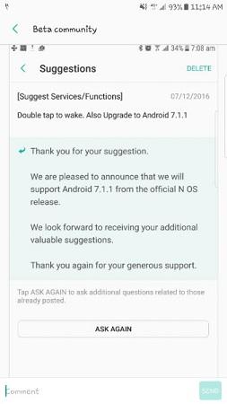 Samsung-Beta-community-7.1.1