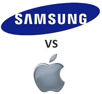 Logotipo de Samsung Vs Apple