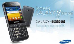 Samsung planea lanzar Dual-SIM Galaxy Y Pro Duos