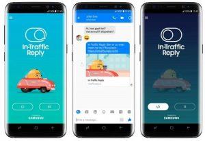 Samsung presenta la aplicación In-Traffic Reply para responder automáticamente a los mensajes al conducir