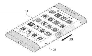 Samsung presenta una patente para un teléfono inteligente con pantalla envolvente