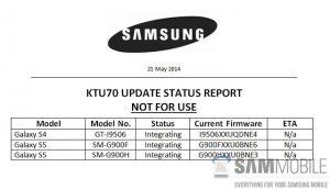 Samsung prueba la actualización de Android 4.4.3 para Galaxy S5 y Galaxy S4 LTE-A