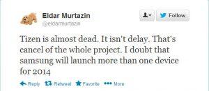 Samsung puede haber cancelado el proyecto Tizen