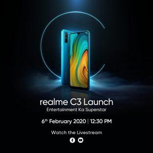 Se anuncia el lanzamiento del nuevo teléfono inteligente Realme serie C en India;  podría ser Realme C3