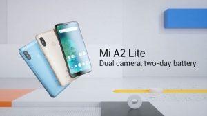 Se anuncia el teléfono inteligente Xiaomi Mi A2 Lite Android One con pantalla con muescas de 5.84 pulgadas, cámaras traseras duales y batería de 4000 mAh