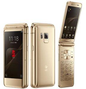 Se anuncia el teléfono plegable premium Samsung W2017 con pantalla dual de 4.2 pulgadas y escáner de huellas dactilares