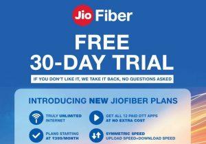 Se anunciaron los planes ilimitados de JioFiber;  desde ₹ 399