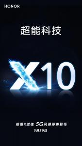 Se confirma el lanzamiento del teléfono inteligente Honor X10 5G el 20 de mayo