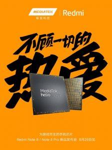 Se confirma que la serie Redmi Note 8 viene impulsada por el chipset MediaTek Helio G90T