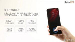 Se confirmó que Redmi K20 tiene pantalla sin muescas y sensor de huellas dactilares en pantalla de séptima generación