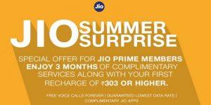 Se detallan los planes de tarifas de Reliance Jio Summer Surprise para los suscriptores de Jio Prime