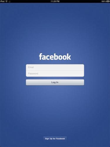 Se filtra la aplicación de Facebook para iPad