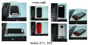 Se filtraron los dispositivos Nokia 305 y Nokia 311 full touch S40