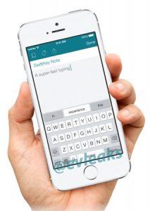 Se filtró la aplicación SwiftKey Note para iPhone;  Podría ser un teclado de terceros para iOS