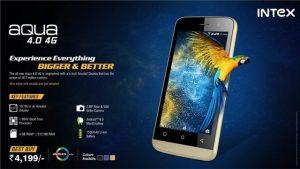 Se lanzó el teléfono inteligente Android Intex Aqua 4.0 4G de nivel de entrada con soporte 4G VoLTE para Rs.  4199