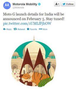 Se pospone el lanzamiento de Moto G en India;  Los detalles se revelarán el 5 de febrero.