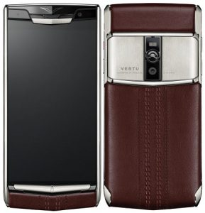 Se presenta el teléfono inteligente de lujo Vertu Signature Touch con cuero fino hecho a mano