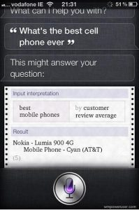 Siri dice que Nokia Lumia 900 Cyan es el 'mejor teléfono celular de todos los tiempos'