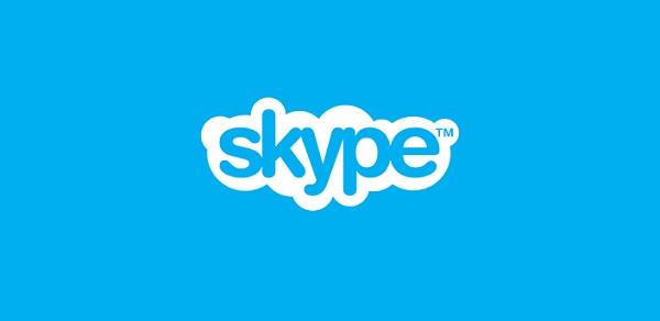Encabezado de Skype