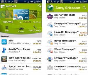 Sony Ericsson lanza su propio canal en Android Market