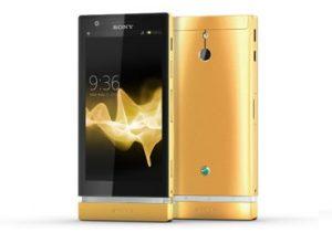 Sony Xperia P revestido en oro de 24 quilates, se ve digno de babear