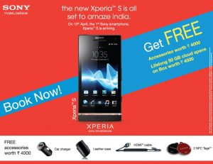 Sony Xperia S llegará el 10 de abril con obsequios gratuitos por valor de Rs.  4000