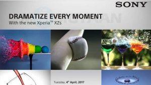 Sony Xperia XZs se lanzará en India el 4 de abril