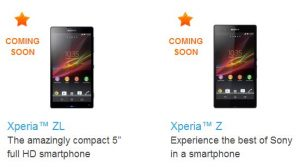 Sony Xperia Z 'Próximamente' a India con Xperia ZL