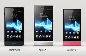 Sony lanza oficialmente Xperia P, U y Sola en India