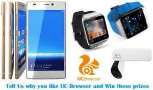 Sorteo #MobiGyaan: Gana teléfonos inteligentes, relojes inteligentes y bancos de energía, cortesía de UC Browser