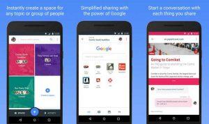 Spaces, una aplicación para compartir en grupo lanzada por Google