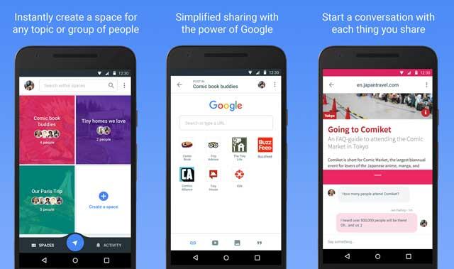 Aplicación de Google Spaces
