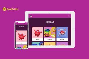 Spotify lanza una aplicación de transmisión de música independiente para niños