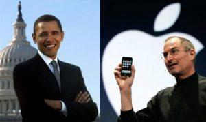 Steve Jobs cenó con el presidente Obama