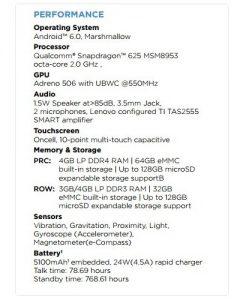 Superficie de especificaciones de Moto M;  Pantalla Full HD de 5,5 pulgadas y procesador octa-core a cuestas